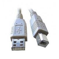 Kabel C-TECH USB A-B 3m 2.0, černý