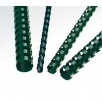 Plastové hřbety 22 zelené, 50 ks balení