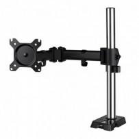 """ARCTIC Z1 Gen3 (Matt Black Coating) stolní LCD držák do 38"""", VESA 75/100, 15 kg, 4-port USB 2.0 Hub, stříbrný/černý"""