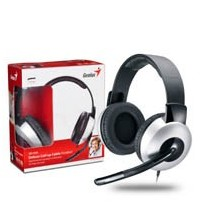 Genius headset - HS-05A (stereo sluchátka + mikrofon), svinovací kabel