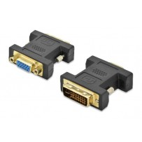Ednet Adaptér DVI, DVI (24 + 5) samec na HD15 (VGA) samice, DVI-I duální propojení, černý, zlato