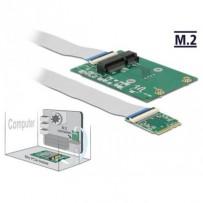 Delock Převodník M.2 Key A+E samec - 1 x Mini PCIe Slot half size / full size s flexibilním kabelem