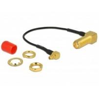 Delock Anténní kabel SMA 90° samice - MMCX 90° samec 10 cm 1.37 délka závitu 13 mm