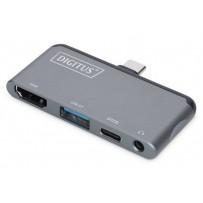 Digitus dokovací stanice pro tablet 1x HDMI, 1x USB3.0, 1x Audio, 1x USB-C (PD)