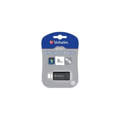 VERBATIM Store 'n' Go PinStripe 8GB USB 2.0 černá