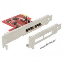 Delock PCI Express Card - 2 x eSATA 6 Gb/s with RAID – Low Profile Form Factor