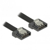 Delock kabel SATA FLEXI 6 Gb/s 50 cm černý kovová spona