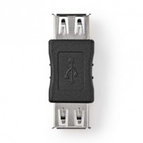Nedis CCGB60900BK - USB 2.0 Adaptér | A Zásuvka - A Zásuvka | Černá barva