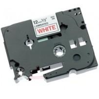 Brother - TZe-232, bílá / červená - 1 ks (12mm, laminovaná)