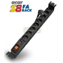 """19"""" napájecí panel ACAR S8/3m 8x220V-3m BK"""