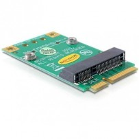 Delock Converter Mini PCI Express half-size - full-size