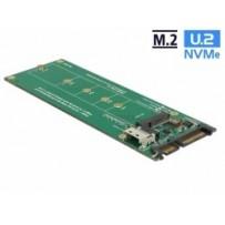 Delock Převodník U.2 SFF-8654 nebo SATA na slot 1 x M.2 key M
