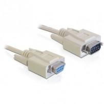 Delock sériový kabel RS-232 Sub-D9 samec - RS-232 Sub-D9 samice, 1m, prodlužovací