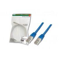 Digitus Patch Cable, UTP, CAT 5e, AWG 26/7, měď, modrý, 0,5m