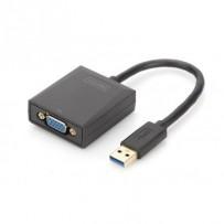 Digitus Adaptér USB 3.0 na VGA, vstupní USB 1080p, výstupní VGA