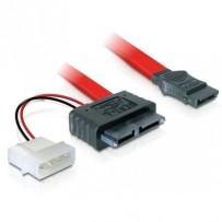 DeLock kabel SATA Slimline All-in-One 7+6pin samice 5V
