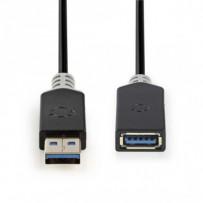 Nedis CCBW61010AT20 - USB 3.0 Kabel | A Zástrčka - A Zásuvka | 2 m | Antracit