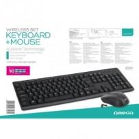 OMEGA set bezdrátové klávesnice a myši OKM071B
