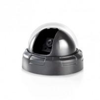 Nedis DUMCD10BK - Atrapa Bezpečnostní Kamery | Kamera s kopulovým krytem | IP44 | Černá barva