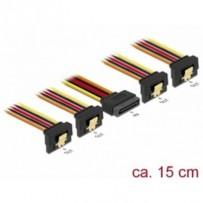 Delock Kabel SATA 15 pin napájecí samec s aretací - SATA 15 pin napájecí samice 4 x dolů 15 cm