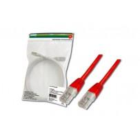 Digitus Patch Cable, UTP, CAT 5e, AWG 26/7, měď, červený, 0,5m