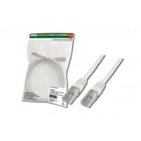 Digitus Patch Cable, UTP, CAT 5e, AWG 26/7, měď, bílý 0,5m