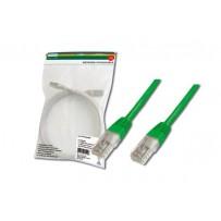 Digitus Patch Cable, UTP, CAT 5e, AWG 26/7, měď, zelený, 1m