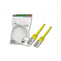 Digitus Patch Cable, UTP, CAT 5e, AWG 26/7, měď, žlutý, 0,5m