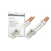 DIGITUS Fiber Optic Patch Cord, LC to LC, Multimode, OM3, 50/125 µ, Duplex Length 2m