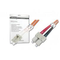 DIGITUS Fiber Optic Patch Cord, LC to SC, Multimode 50/125 µ, Duplex Length 5m OM2