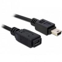 Delock USB 2.0 kabel, prodlužující mini-B 5-pin samec/samice 1 metr