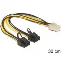 Delock PCI Express napájecí kabel 6 pin samice - 2 x 8 pin samec
