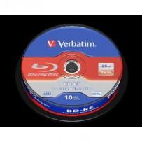 VERBATIM BD-RE SL 25GB, 2x, spindle 10 ks
