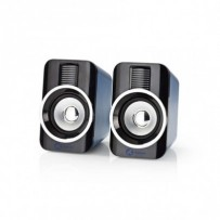 Nedis GSPR20020BK - Herní Reproduktory | 2.0 | RGB | Napájení USB | Jack 3,5 mm | RMS 10 W