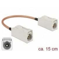 Delock Anténní kabel FAKRA B samice - FAKRA B samice RG-316 15 cm