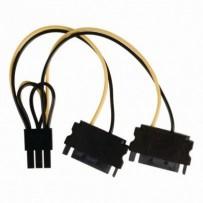 Nedis CCGP74205VA015 - Interní napájecí kabel | 2x SATA 15-pin Zástrčka - PCI Express Zásuvka | 0,15 m | Různé