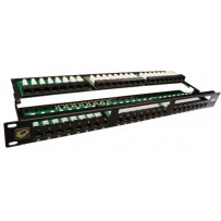 UTP 1U Patch panel 48 port Cat.5e Black