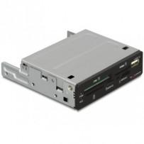 """DeLock Multipanel 3,5"""" USB2.0 43in1 5xSlot+USB, černá"""