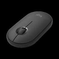 Logitech Pebble Wireless Mouse M350 - 3 tlačítka, bluetooth, 1000dpi - Graphite