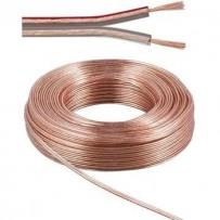 PremiumCord Kabely na propojení reprosoustav 100% CU med 2x1,5mm 10m