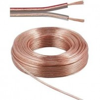PremiumCord Kabely na propojení reprosoustav 100% med 2x0,75mm 10m