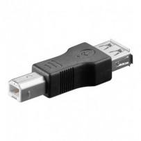 PremiumCord USB redukce A-B, Female/Male