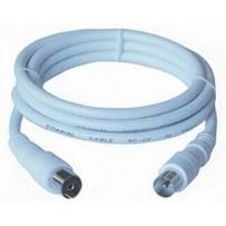 PremiumCord TV kabel M/F konektor 90°, 75 Ohm 1,5m