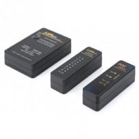 Digitus Kabelový tester, síť, RJ45, hlavní zařízení BNC, vzdálená jednotka, tester PoE, s pouzdrem
