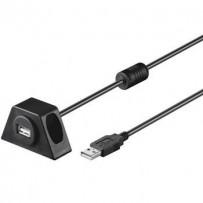 PremiumCord USB 2.0 prodlužovací kabel 2m.MF s konektorem na přišroubování