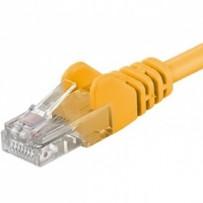 PremiumCord Patch kabel UTP RJ45-RJ45 CAT6 0.25m žlutá