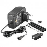 PremiumCord Univerzální napájecí adaptér 230V/3-12V stejnosměrný 1500mA