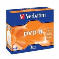 VERBATIM DVD-R AZO 4,7GB, 16x, jewel case 5 ks