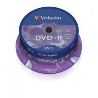VERBATIM DVD+R AZO 4,7GB, 16x, spindle 25 ks