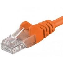 PremiumCord Patch kabel UTP RJ45-RJ45 level 5e 0.25m oranžová